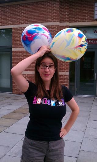 Cecilia Gigliotti and balloons